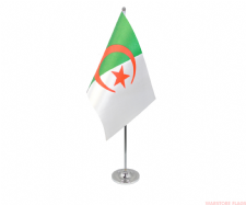 ALGERIA - DELUXE SATIN TABLE FLAG